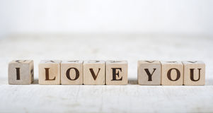 Message I love you royalty free stock photos