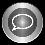 Message icon on a circle isolated on a black background Stock Images