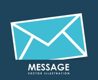 Message icon design Stock Photo