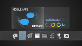Message icon for mobile application contents.Various application function for smart device.Digital display application. Mobile application contents.Various stock video footage