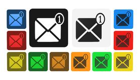 Message icon, sign,illustration. Illustration messages in colors, icons Royalty Free Stock Image