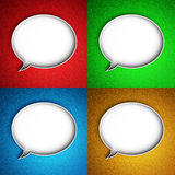 Message icon. Speech bubble. Stock Photos