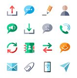 The message, icons, color, vector. Stock Image