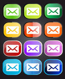 Message icons. Colorful vector buttons with message signs Royalty Free Stock Photos