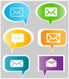 Message icons. Simple colorful vector buttons with message signs Royalty Free Stock Photos