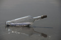 Message In A Bottle (close Up) Stock Photography