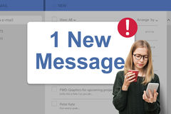 Message Inbox Notification Icon Concept Stock Image