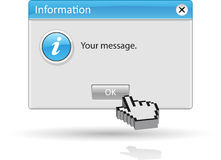 Message information Stock Images