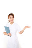 Message from Japanese nurse Stock Images