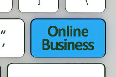 Message on keyboard enter key, for online business concepts Stock Image