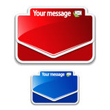 Message labels Stock Photos