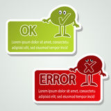 Message labels - speech bubbles Royalty Free Stock Photography