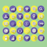 Message. letter. play. Wi-Fi. location. smile. planet. a heart. Set of vector illustrations icons. message. letter. play. Wi-Fi. location. smile. planet. a Stock Image
