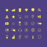 Message. letter. play. Wi-Fi. location. smile. planet. a heart. Set of vector illustrations icons. message. letter. play. Wi-Fi. location. smile. planet. a Royalty Free Stock Photography