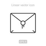 Message. Linear vector icon. Stock Photos