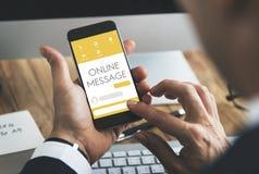Message Live Chat Communication Concept Stock Photo