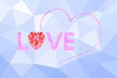 Message love with Abstract Polygon Stock Photography