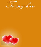 Message of love on card royalty free stock photo