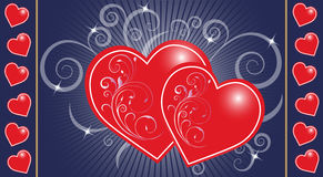 Message of love with hearts Royalty Free Stock Image
