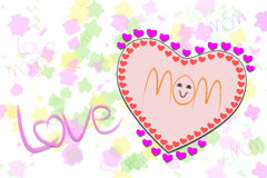 Message love MOM on blur color Stock Photo