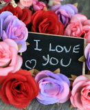 Message of love Stock Photo