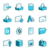 Message and Mail Icons Royalty Free Stock Photography