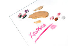 Message in make-up Stock Photography