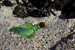 Message mis en bouteille Image libre de droits