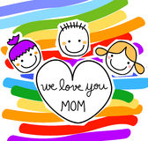 Message for the mothers day Royalty Free Stock Photo
