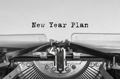 The message of the new year, printed on a typewriter. royalty free stock image