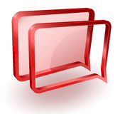 Message or notification vector icon Stock Photo