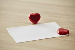 Message ou invitation d'amour Images libres de droits