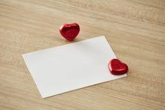 Message ou invitation d'amour Images stock