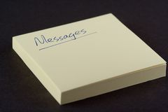 Message Pad Stock Image