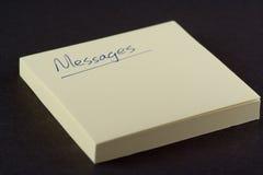 Message Pad. Post-It Pad stock image