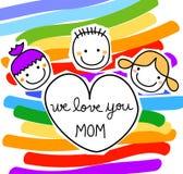 Message pour le jour de mères illustration de vecteur