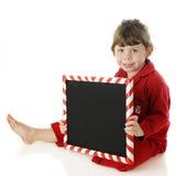 Message préscolaire de Noël Photo stock