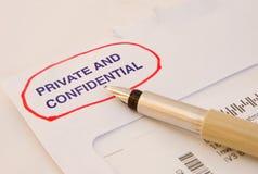 Message privé et confidentiel. Image libre de droits