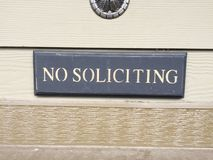 Message recieved. No soliciting on my property ever Stock Images