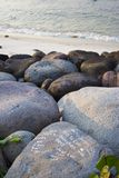 Message on the rocks. Proclamations of eternal love on the rocks Stock Images