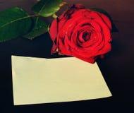 Message romantique de valentine Images stock