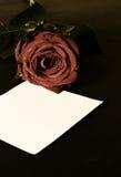 Message romantique de valentine Photographie stock libre de droits