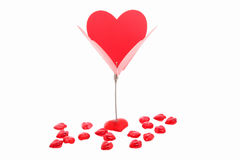 Message rouge de coeur du support de papier Images libres de droits