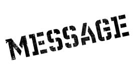 Message rubber stamp Stock Image