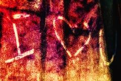 Message sale d'amour Images libres de droits