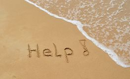 Message in the sand Royalty Free Stock Photo