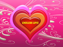 Message sans fin d'amour sur le coeur dans le Saint Valentin Image stock