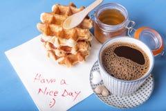 Message savoureux de petit déjeuner et de serviette Images libres de droits