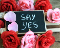 Message of say yes Stock Photo