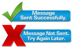Message Sent Not Sent Banners Royalty Free Stock Photos